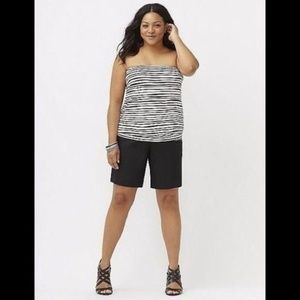 Lane Bryant Wave Stripe Tube Top 22-24